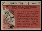 1980 Topps #406  Larry Little  Back Thumbnail