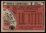 1980 Topps #420  Harold Carmichael  Back Thumbnail