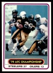 1980 Topps #492   AFC Championship Front Thumbnail