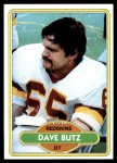 1980 Topps #499  Dave Butz  Front Thumbnail