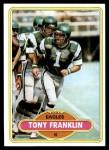 1980 Topps #523  Tony Franklin  Front Thumbnail