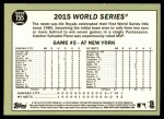 2016 Topps Heritage #155 A  -  Kansas City Royals The Winners Celebrate Back Thumbnail