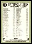 2016 Topps Heritage #240   -  Dee Gordon / Bryce Harper / Paul Goldschmidt NL Batting Leaders Back Thumbnail