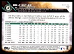 2016 Topps #17  Billy Butler  Back Thumbnail
