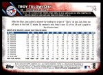2016 Topps #74  Troy Tulowitzki  Back Thumbnail