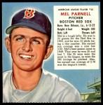 1953 Red Man #25 AL x Mel Parnell  Front Thumbnail