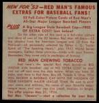 1953 Red Man #23 AL x Gil McDougald  Back Thumbnail
