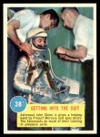 1963 Topps Astronauts 3D #38   -  John Glenn Getting into the suit Front Thumbnail
