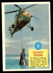 1963 Topps Astronauts #5   Recovery Training Front Thumbnail