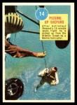 1963 Topps Astronauts 3D #14   -  Alan Shepard Picking up Shepard Front Thumbnail