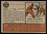 1962 Topps #161 NRM Frank Baumann  Back Thumbnail