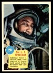1963 Topps Astronauts #28   -  Gus Grissom 2nd US Spaceman Front Thumbnail