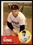 1963 Topps #176  Jim King  Front Thumbnail