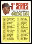 1967 Topps #191 TOM  -  Willie Mays Checklist 3 Front Thumbnail