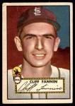 1952 Topps #285  Cliff Fannin  Front Thumbnail
