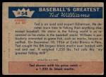 1959 Fleer #54   -  Ted Williams Fisherman Ted Hooks Big One Back Thumbnail