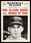 1961 Nu-Card Scoops #466   -  Bob Allison Named AL Rookie of Year Front Thumbnail