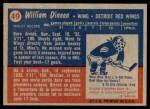 1957 Topps #49  Bill Dineen  Back Thumbnail