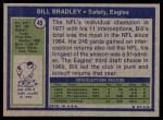 1972 Topps #45  Bill Bradley  Back Thumbnail