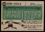 1958 Topps #49  Hank Ciesla  Back Thumbnail