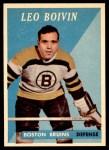 1958 Topps #20  Leo Boivin  Front Thumbnail