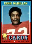 1971 Topps #161  Ernie McMillan  Front Thumbnail