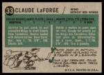 1958 Topps #33  Claude Laforge  Back Thumbnail