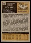 1971 Topps #123  Johnny Roland  Back Thumbnail