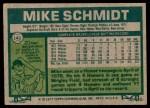 1977 Topps #140  Mike Schmidt  Back Thumbnail