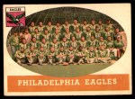 1958 Topps #109   Eagles Team Front Thumbnail