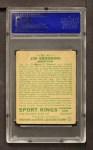 1933 Goudey Sport Kings #41  Jim Browning   Back Thumbnail