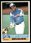 1976 Topps #28  Dusty Baker  Front Thumbnail
