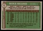 1976 Topps #53  Mike Beard  Back Thumbnail