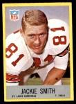 1967 Philadelphia #165  Jackie Smith  Front Thumbnail