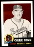 1953 Topps Archives #321  Charlie Grimm  Front Thumbnail