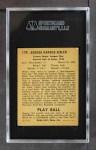 1940 Play Ball #179  George Sisler  Back Thumbnail