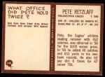 1967 Philadelphia #140  Pete Retzlaff  Back Thumbnail