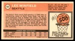 1970 Topps #147  Lee Winfield   Back Thumbnail
