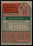1975 Topps #489  Cecil Cooper  Back Thumbnail