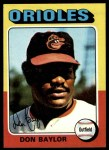 1975 Topps #382  Don Baylor  Front Thumbnail