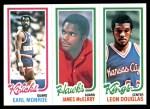 1980 Topps   -  Earl Monroe / James McElroy / Leon Douglas 170 / 27 / 85 Front Thumbnail