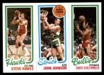 1980 Topps   -  Steve Hawes / John Johnson / David Greenwood 24 / 226 / 45 Front Thumbnail