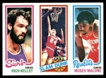 1980 Topps   -  Rich Kelley / Bobby Jones / Moses Malone 192 / 263 / 107 Front Thumbnail