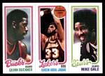 1980 Topps   -  Quinn Buckner / Kareem Abdul-Jabbar / Mike Gale 147 / 133 / 207 Front Thumbnail