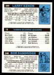 1980 Topps   -  Bob Dandridge / John Drew / Larry Kenon 246 / 19 / 209 Back Thumbnail