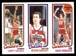 1980 Topps   -  Campy Russell / Kevin Grevey / Dave Robisch 58 / 247 / 52 Front Thumbnail