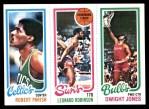 1980 Topps   -  Robert Parish / Leonard Robinson / Dwight Jones 97 / 187 / 46 Front Thumbnail