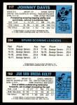 1980 Topps   -  Jan Van Breda Kolff / George Gervin / Johnny Davis 162 / 204 / 117 Back Thumbnail