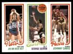 1980 Topps   -  Jan Van Breda Kolff / George Gervin / Johnny Davis 162 / 204 / 117 Front Thumbnail