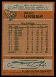 1978 Topps #110  Garry Unger  Back Thumbnail